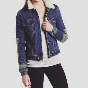 Roxy Sz Medium Bonfire Spirit Sherpa Denim Jacket